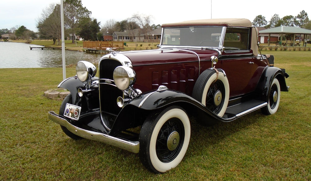 1932 Oldsmobile F32 Convertible with Rumble Seat and Luggage Trunk