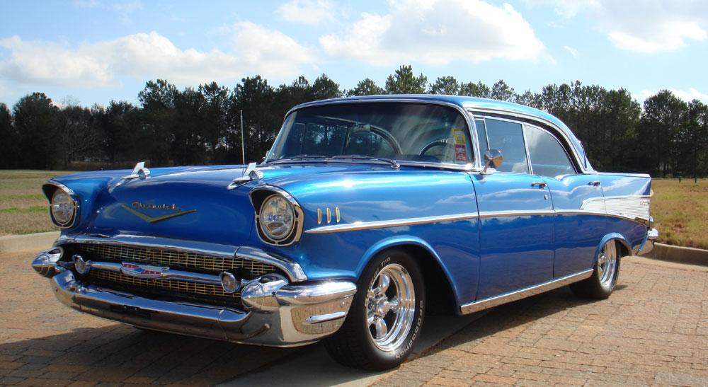 1957 Chevy Bel Air No Post Hardtop 350 V8 Auto A C